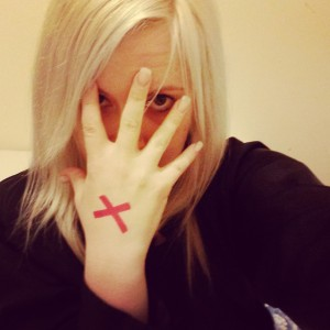 27th of February was Shine a Light on Slavery Day. I drew a red X on my hand to raise awareness and tell my world where I stand. #Enditmovement