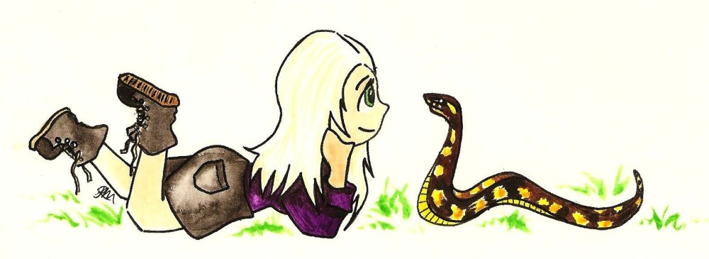From the moment Pauley and the python first met, Pauley knew they would be best of friends.